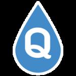 ikona kropla wody z symbolem jakości w środku