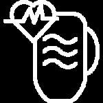 ikona serce i kubek wody