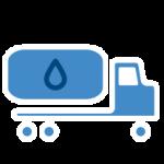 samochód transportujący wodę
